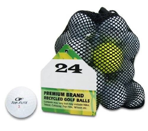 Second Chance Top Flite, Set 100 Palline da Golf, Categoria A Unisex, Bianco