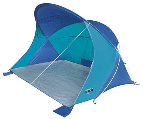 high peak evia 50, tenda a conchiglia da spiaggia unisex  adulto, blu, 200 x 150 cm