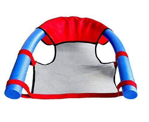 beco seduta da piscina per bambini da utilizzare con tubi galleggianti, rosso