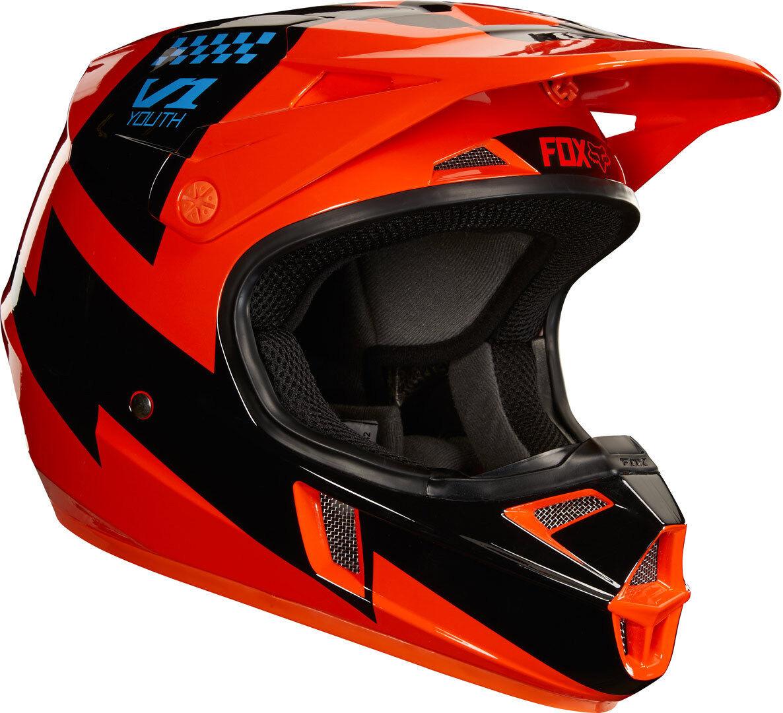 fox v1 mastar casco moto cross giovanile