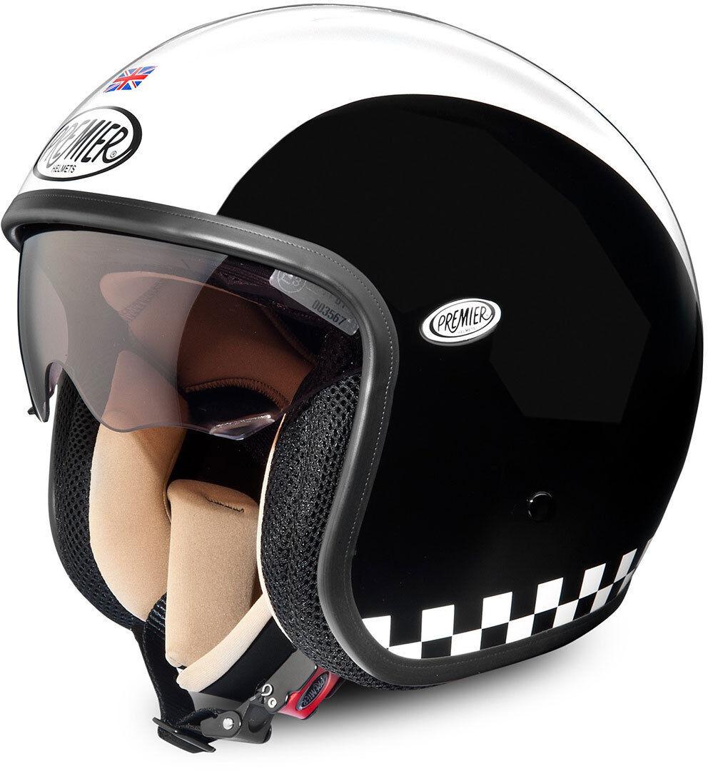 Premier Vintage Retro Jet Helmet Elmetto jet