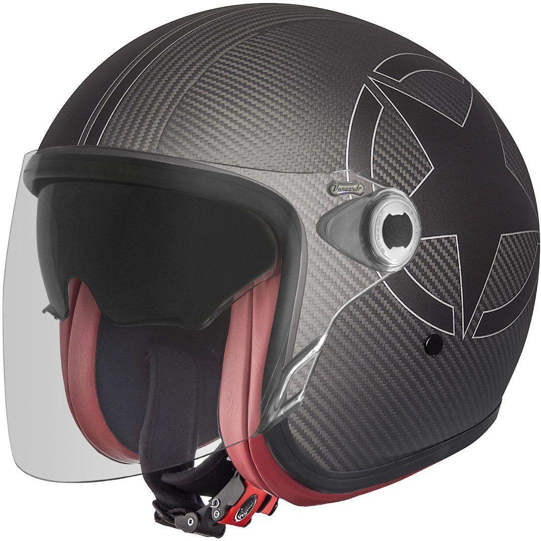 Premier Vangarde Star Carbon Jet Helmet Elmetto jet