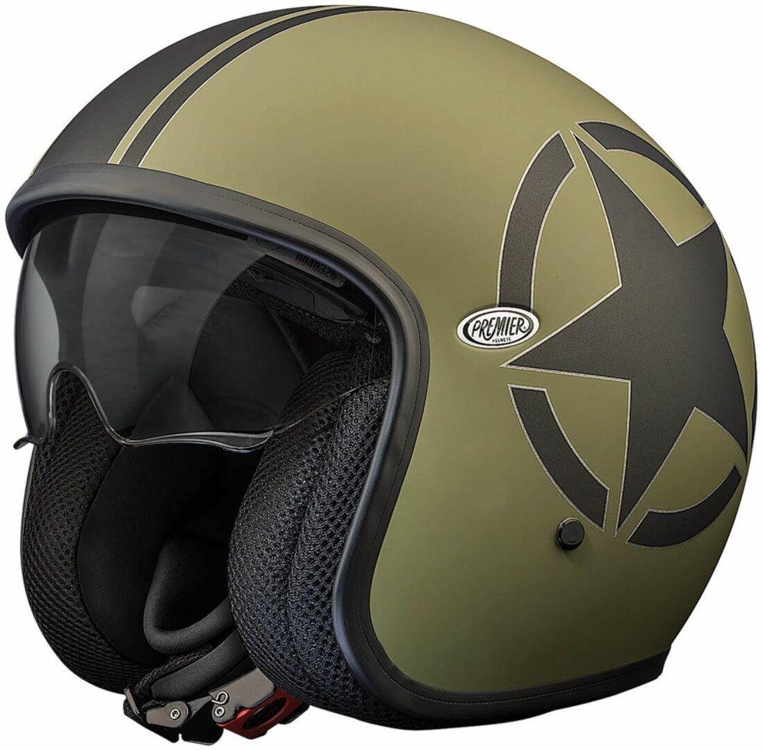 Premier Vintage Star Jet Helmet Elmetto jet