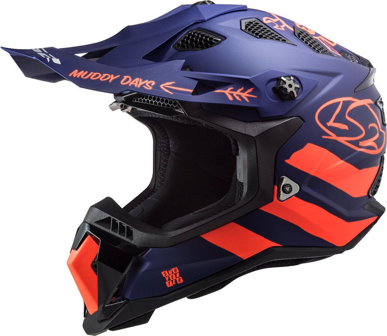 LS2 MX700 Subverter Evo Cargo Casco motocross