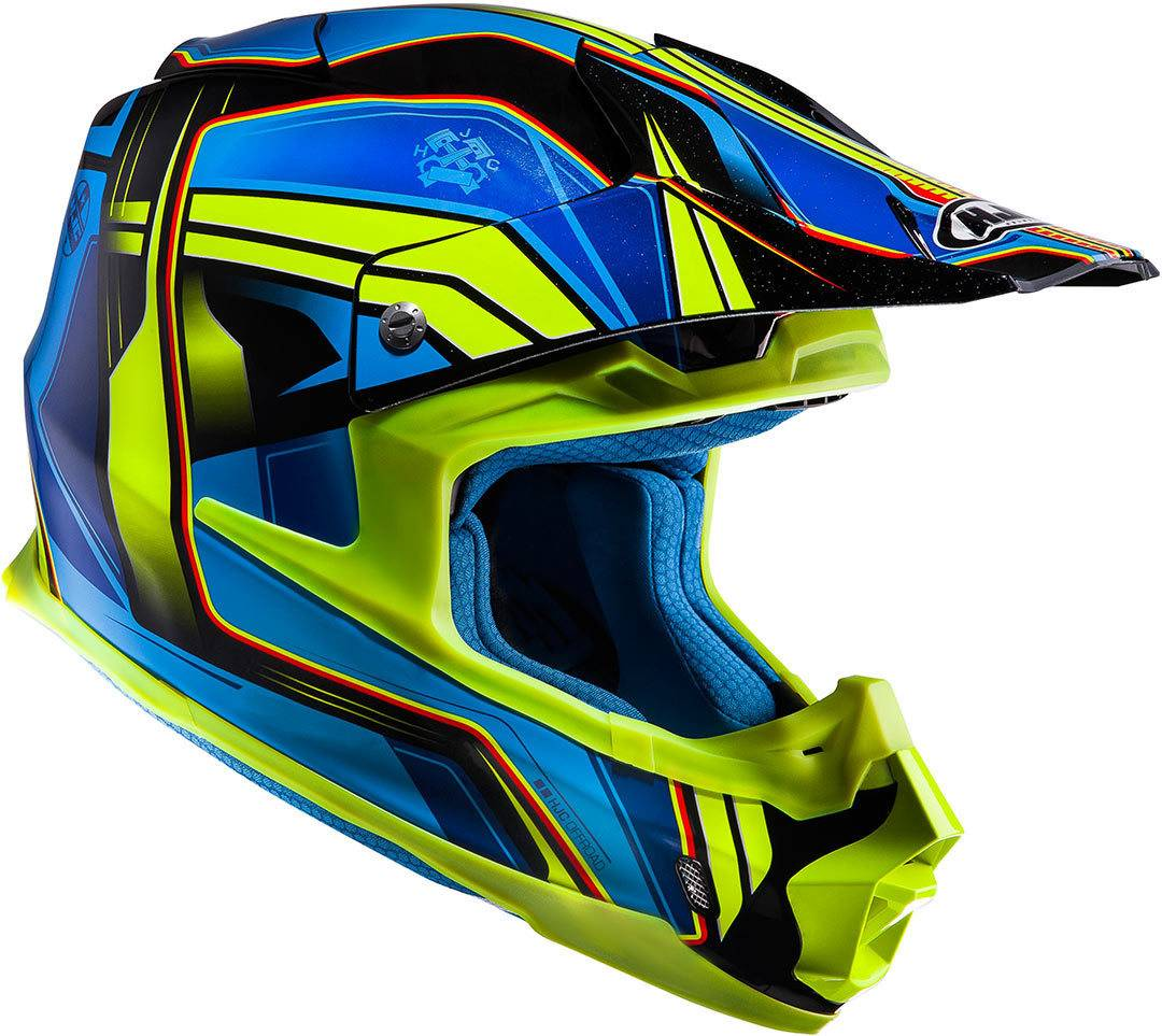 HJC FX-Cross Piston Casco moto cross Nero Giallo M