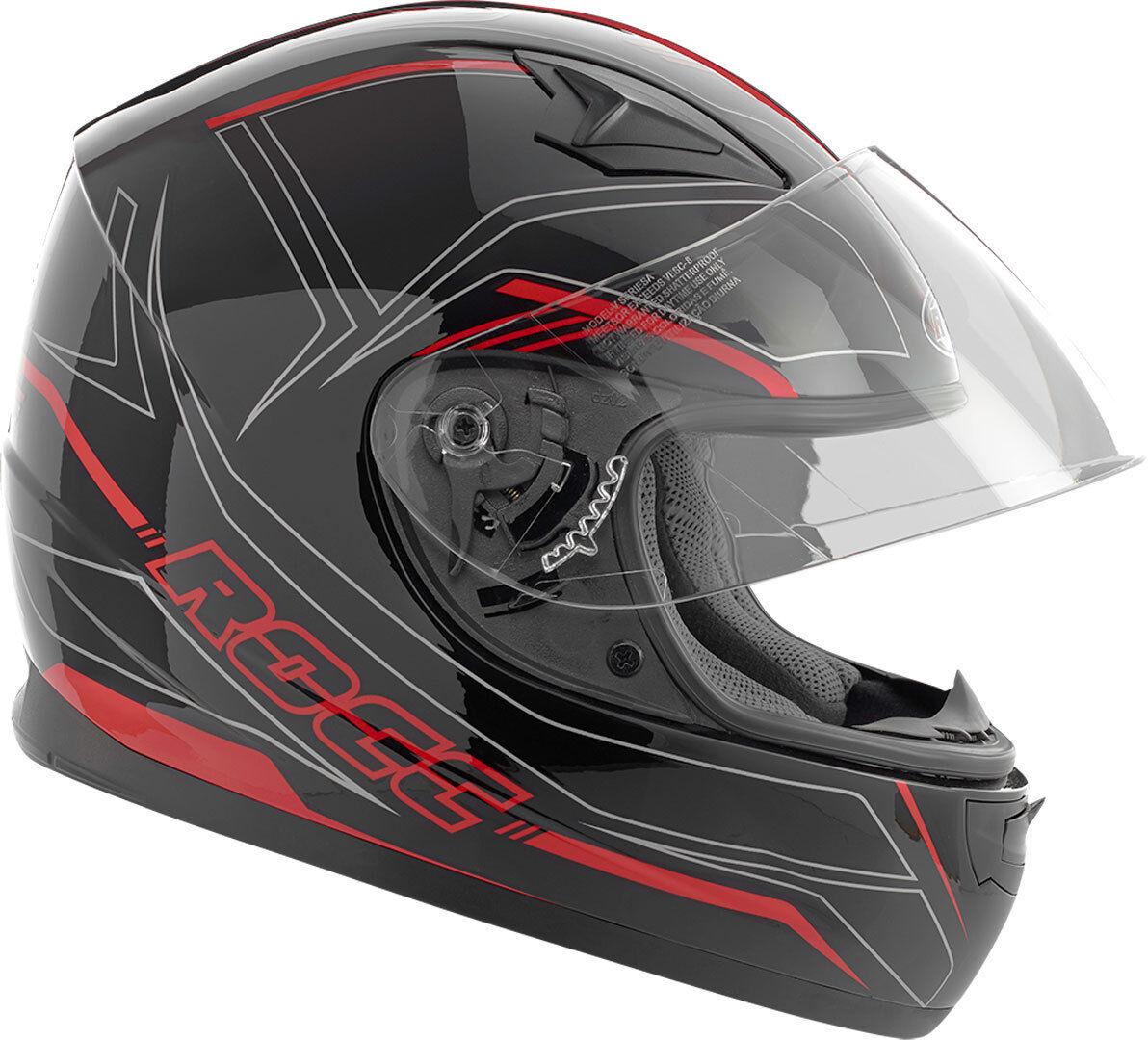 Rocc 382 Bambini casco Nero Rosso 2XS