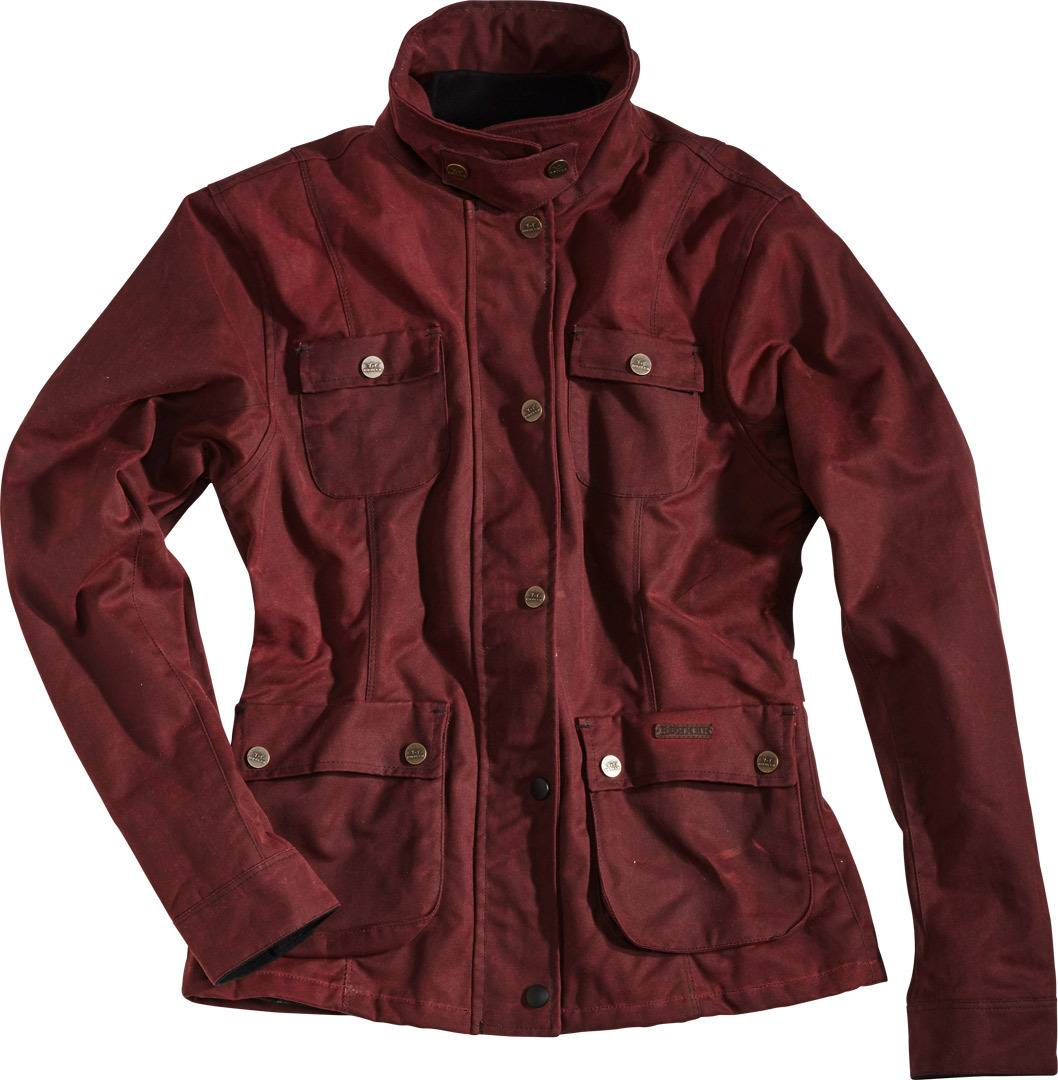 Rokker Wax Cotton Giacca Lady Rosso 2XL