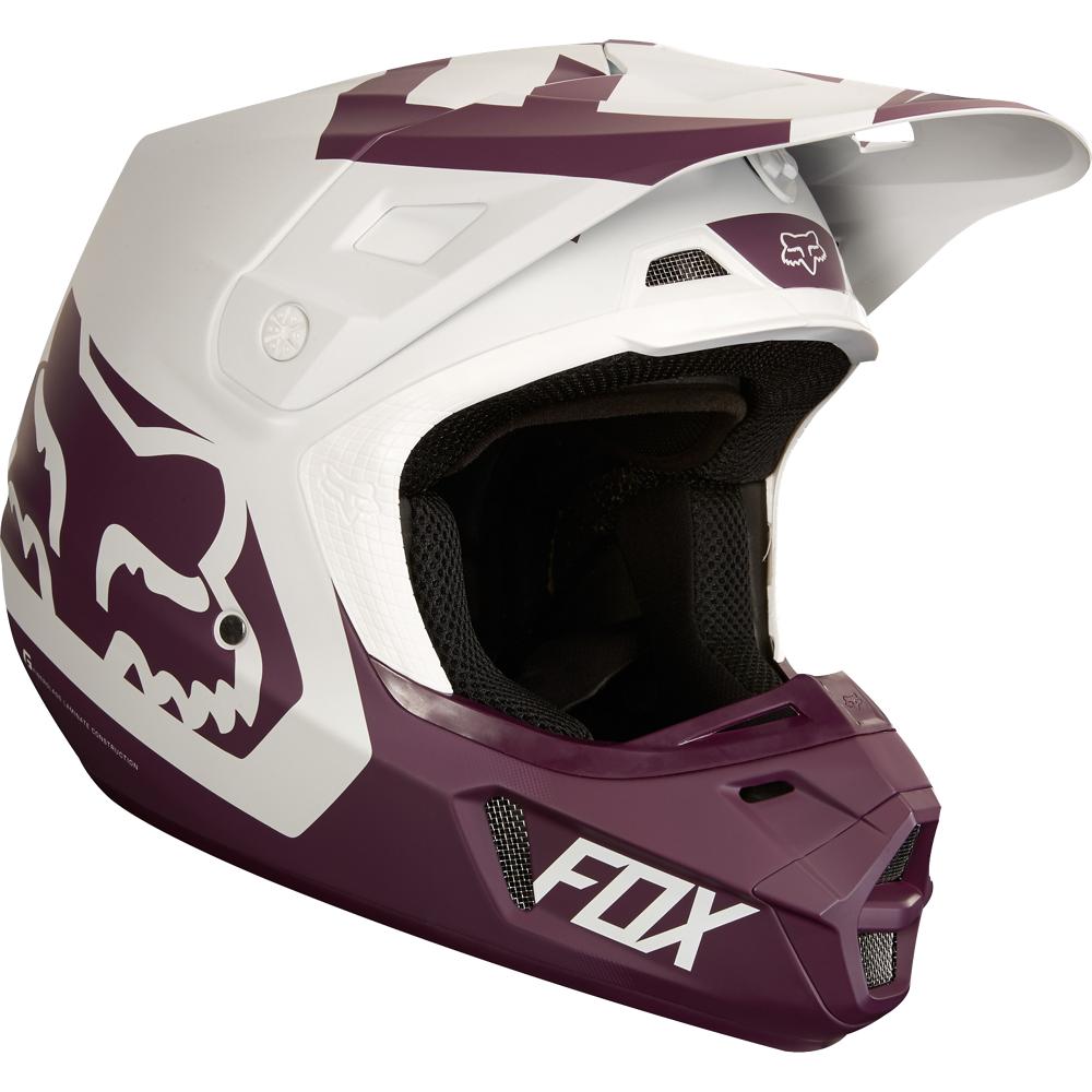 Fox V2 Preme Casco moto cross Nero Bianco XL