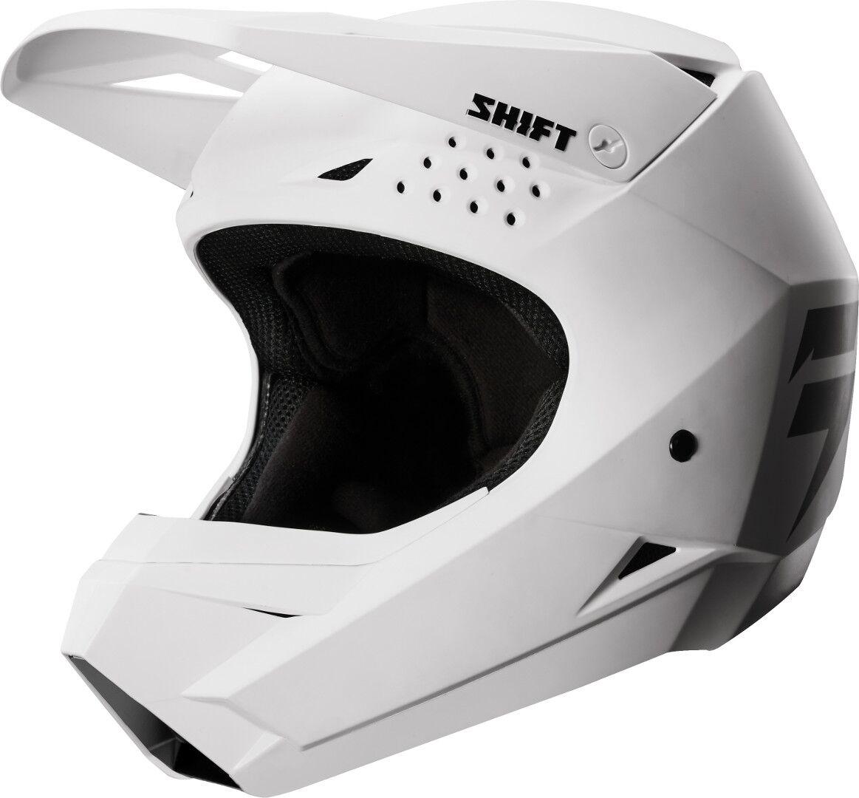 Shift WHIT3 Bambini Motocross casco Bianco S