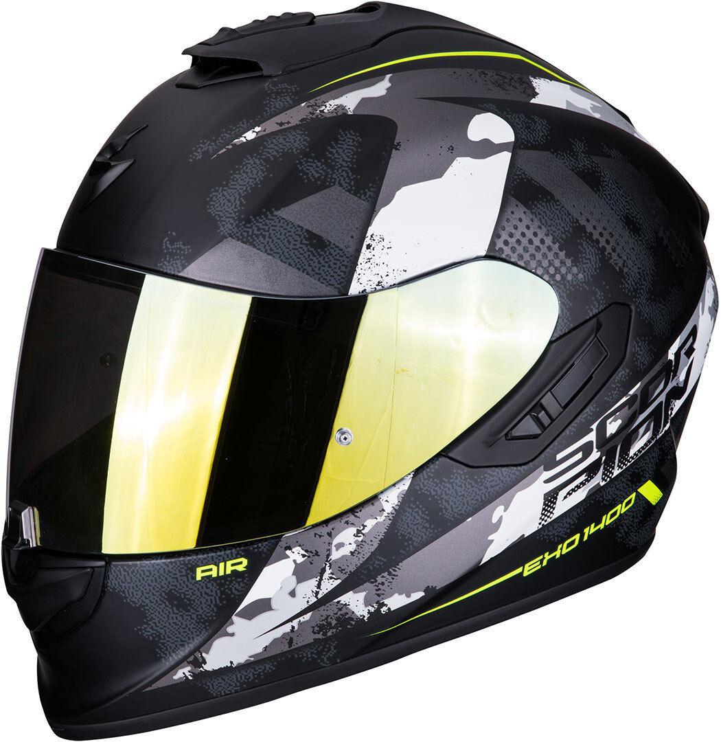 Scorpion EXO 1400 Air Sylex casco Nero Argento 2XL
