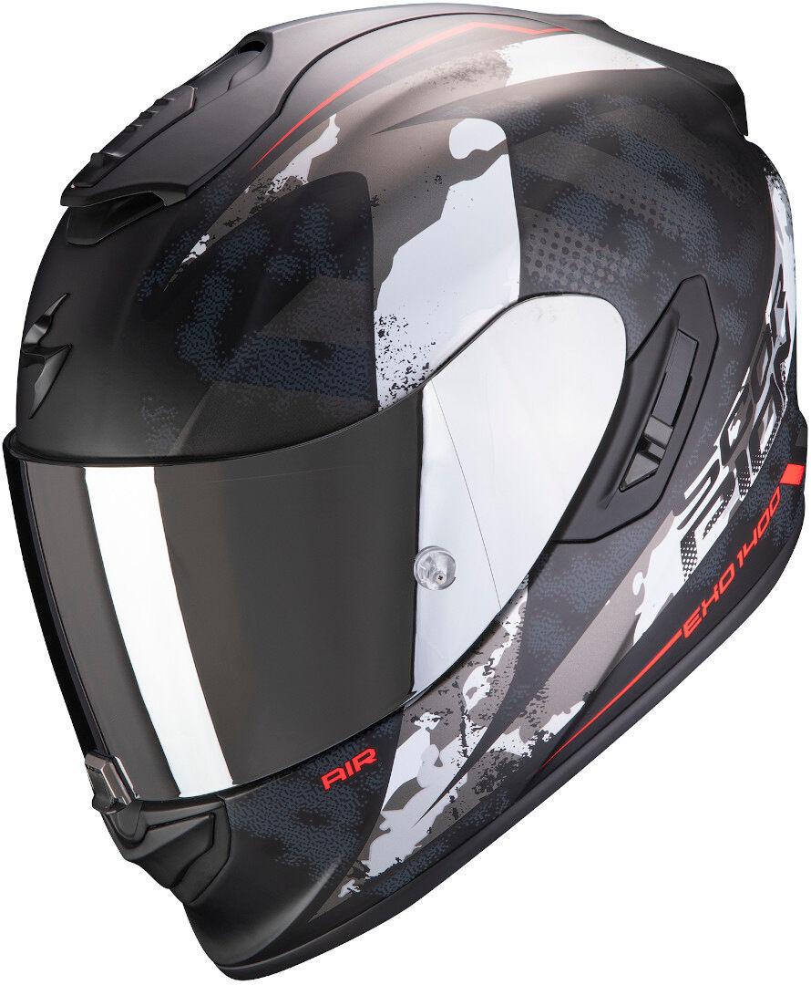 Scorpion EXO 1400 Air Sylex casco Nero Rosso Argento XL