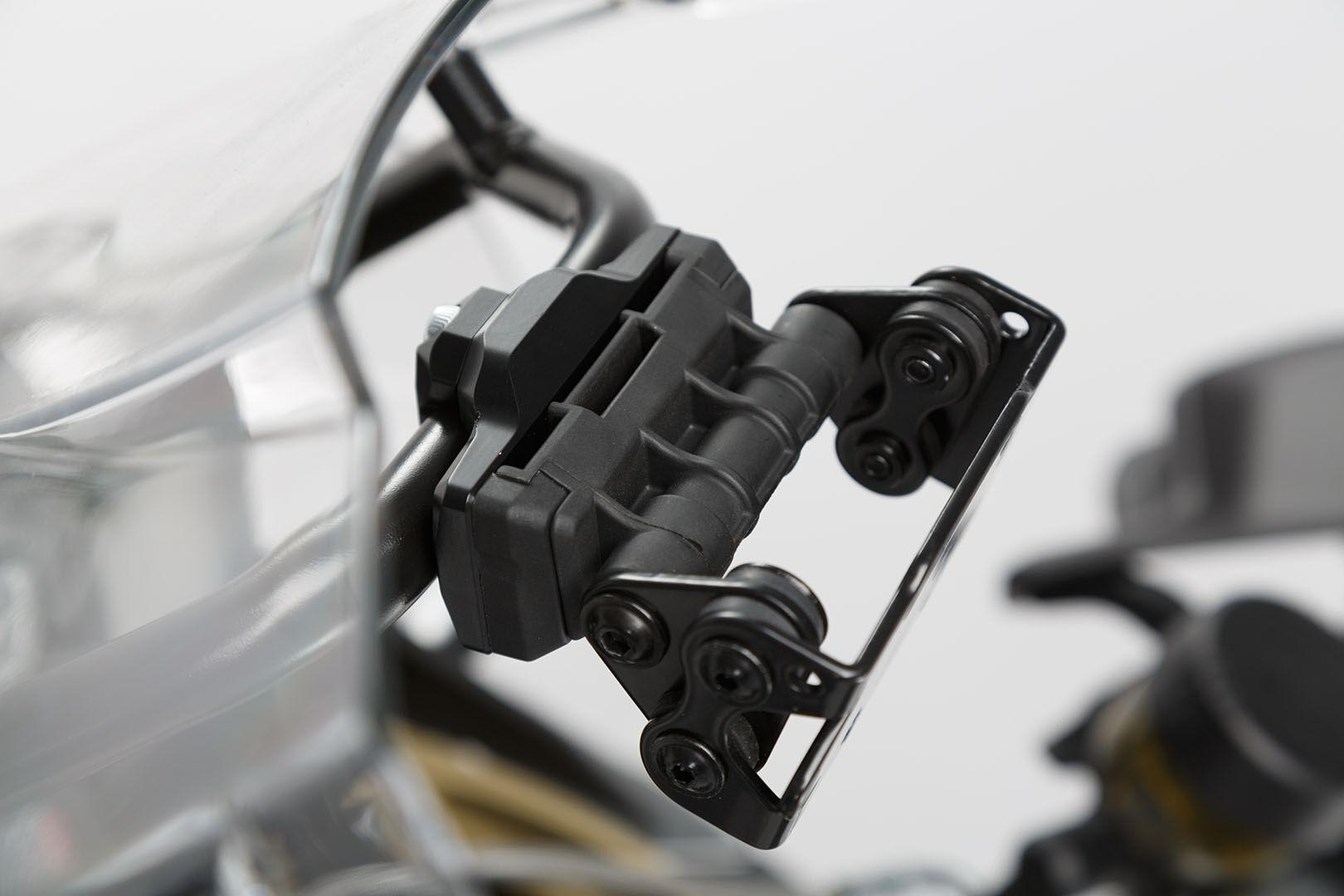 SW-Motech Supporto GPS per traversa Ø 13/16 mm nero