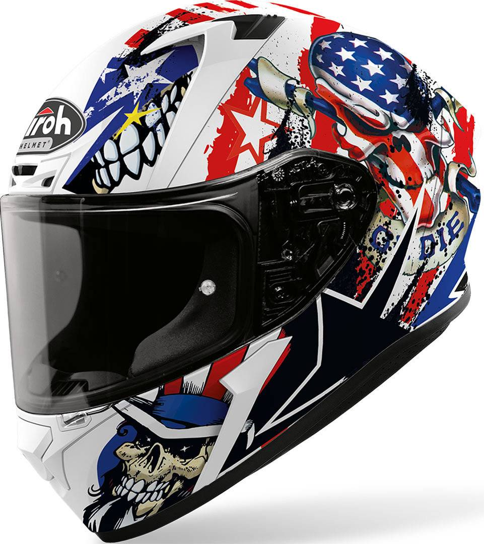 Airoh Valor Uncle Sam casco Bianco Rosso Blu XS