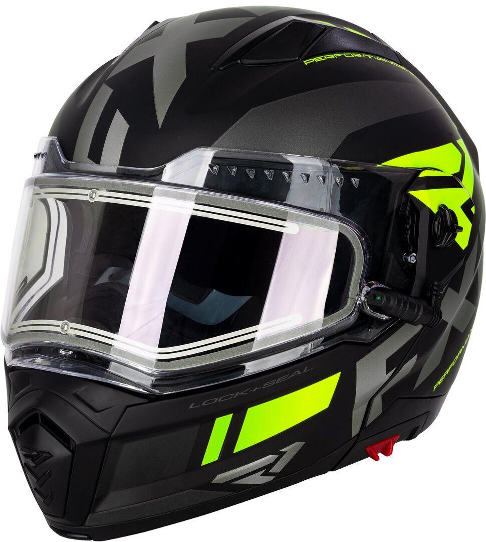 FXR Maverick Modular Team Casco da motoslitta Nero Giallo S