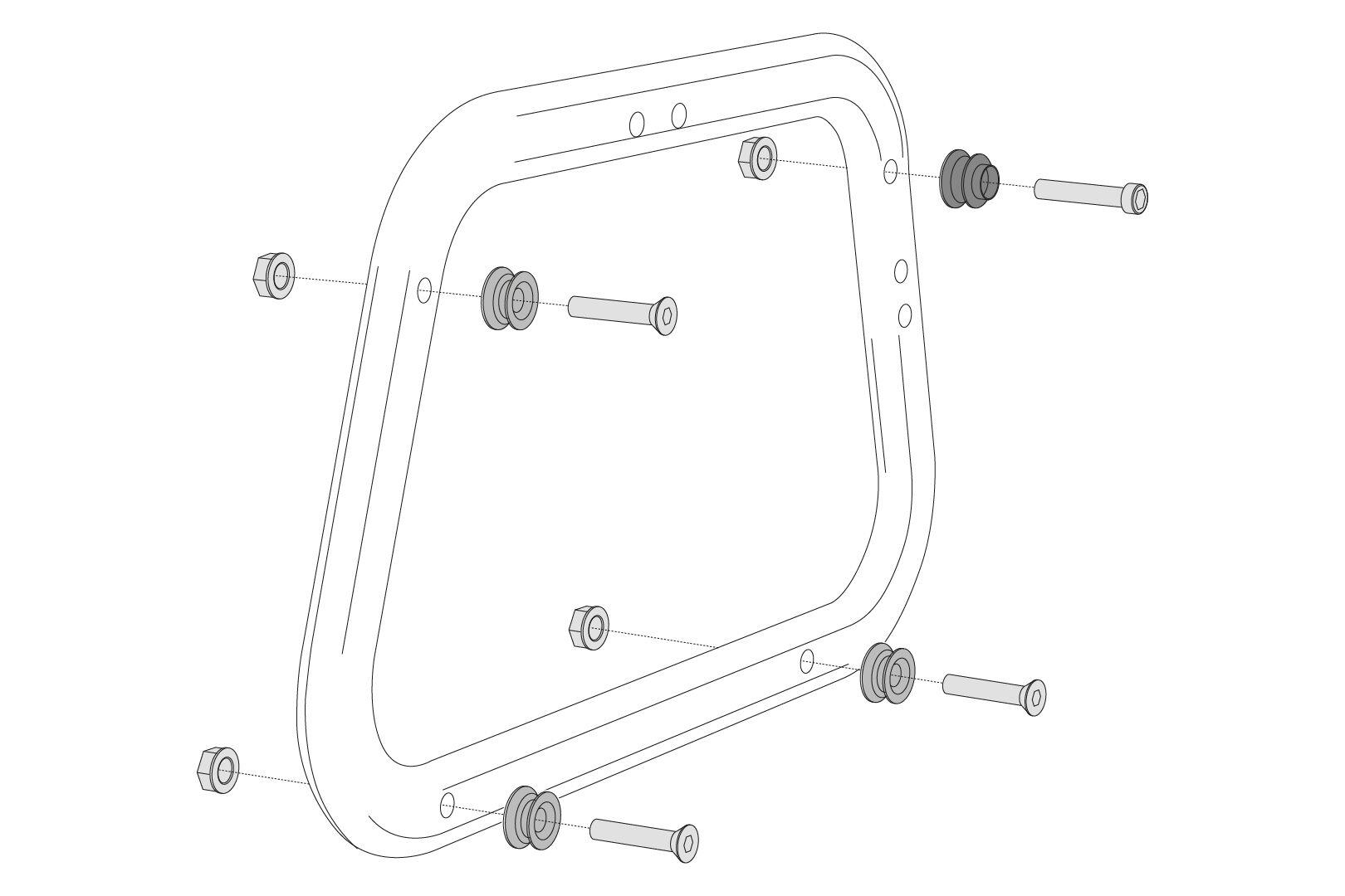 SW-Motech Kit adattatore per supporto EVO - 2 pc. Per i casi laterali AERO ABS.