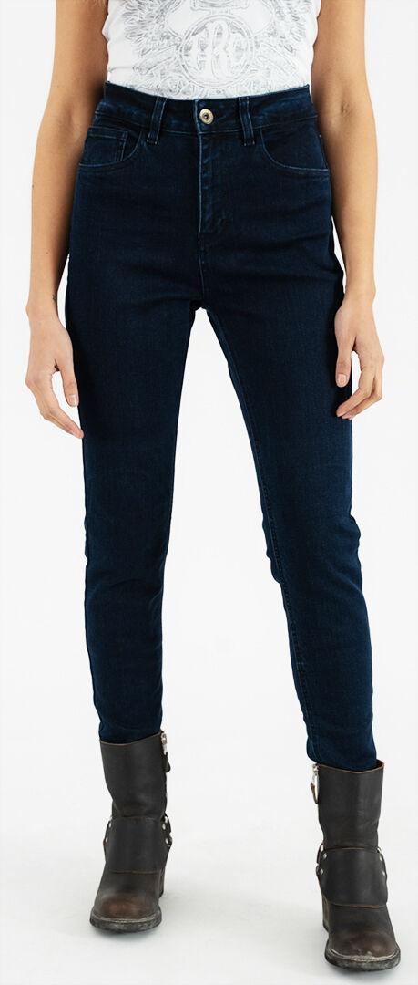 Rokker tech High Waist Blue Pantaloni Tessili Moto Da Donna