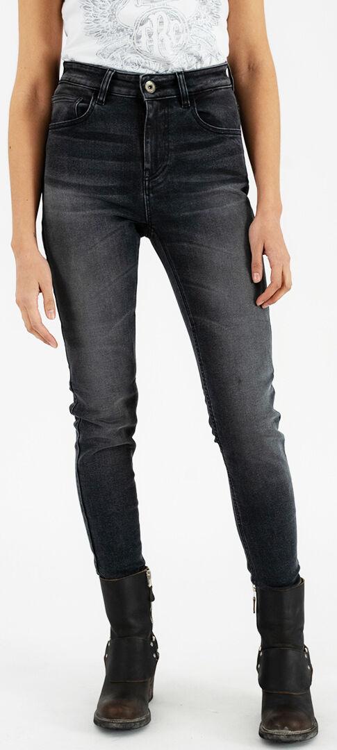 Rokker Tech High Waist Jeans moto da donna