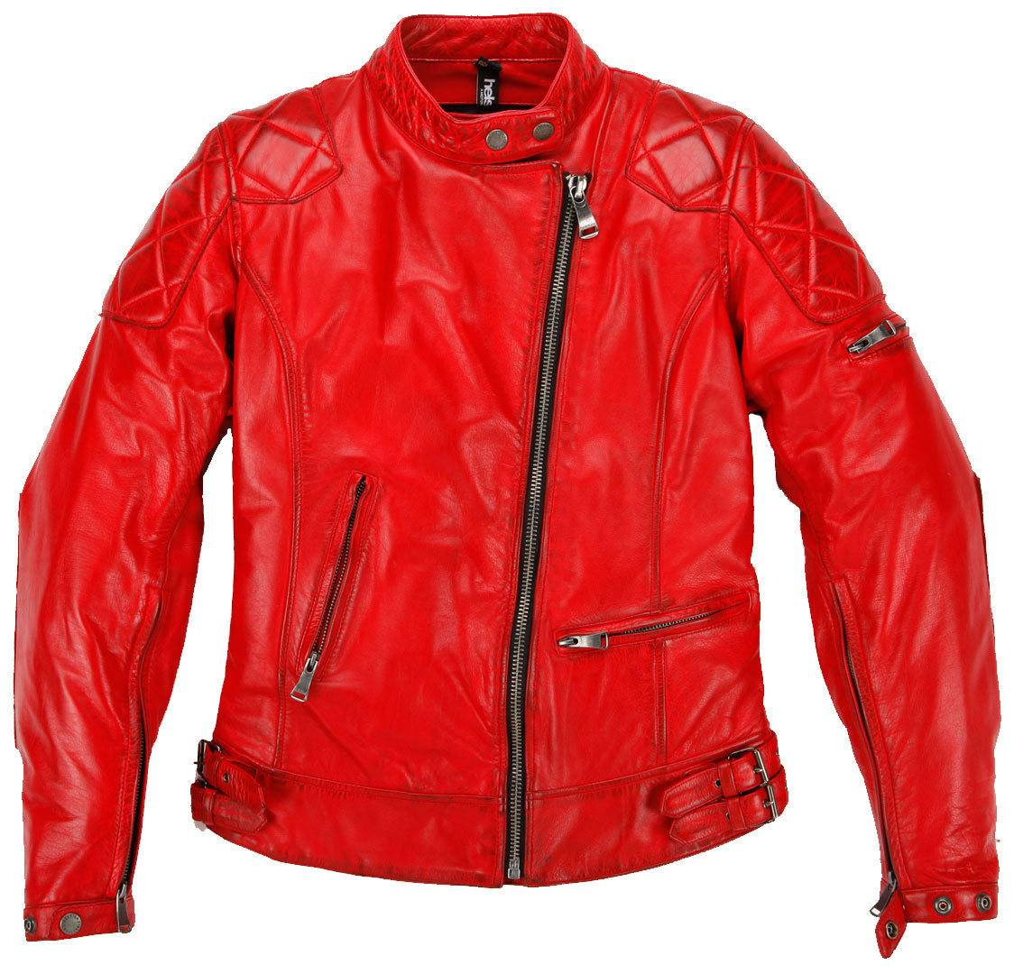 Helstons KS70 Giacca in pelle da donna Rosso XL