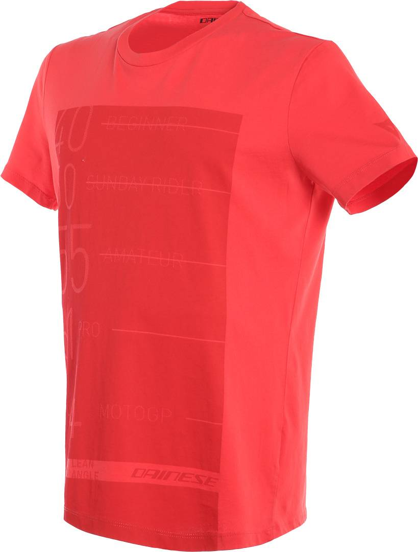 Dainese Lean Angle T-shirt Rosso XS