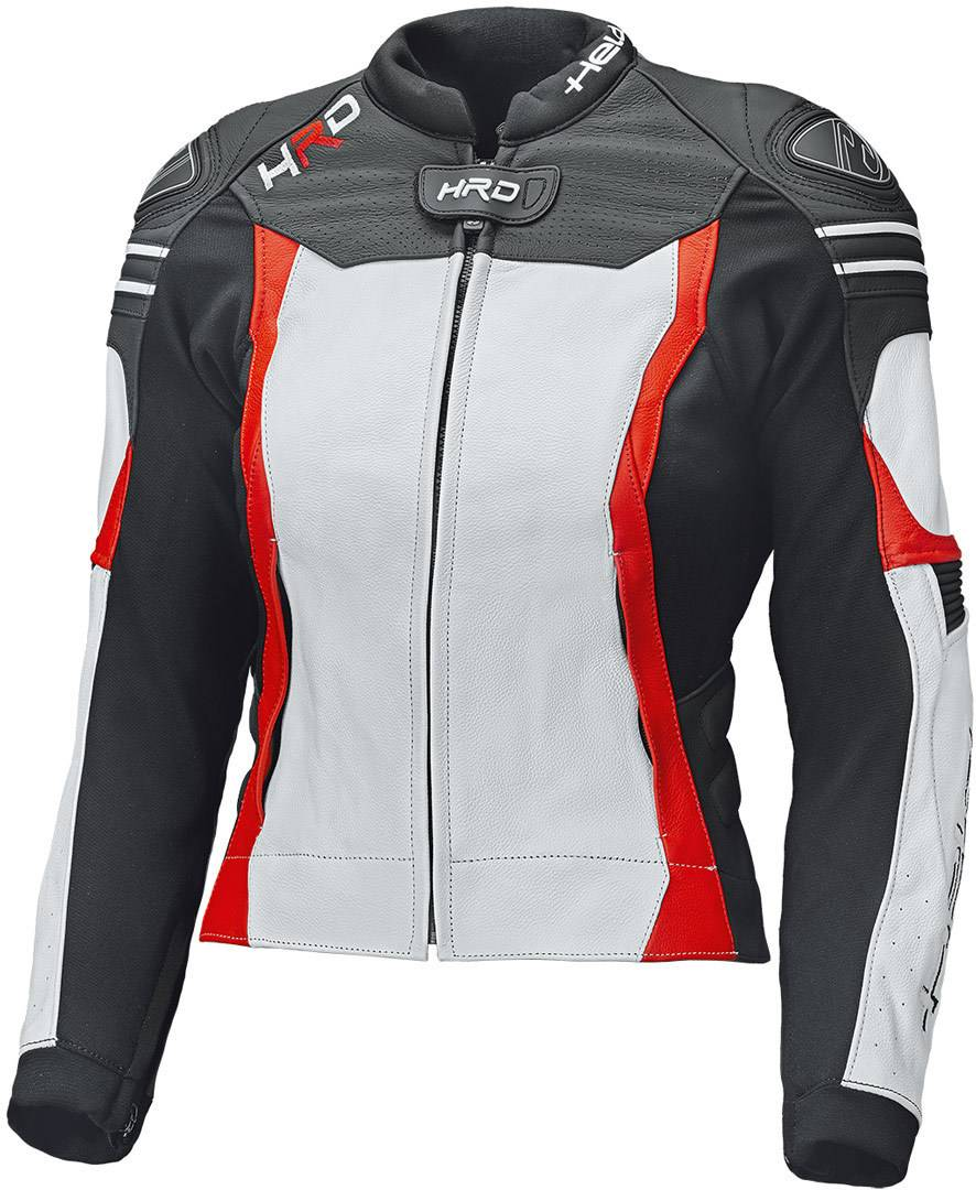Held Street 3.0 Giubbotto moto in pelle donna Bianco Rosso 38