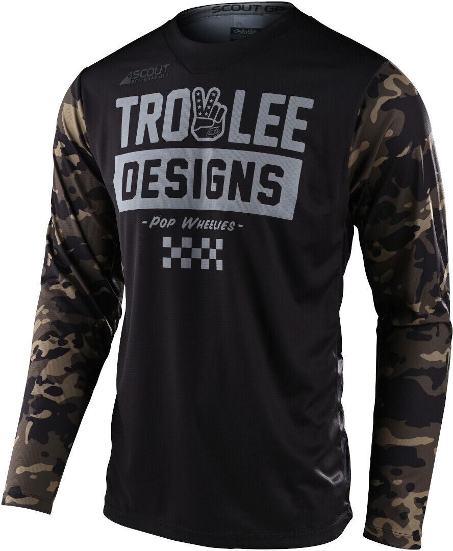 Lee Scout GP Peace & Wheelies Camo Maglia motocross