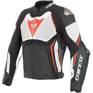 Dainese Tuono D-Air® Airbag Giacca in pelle perforata moto Nero Bianco Rosso 48