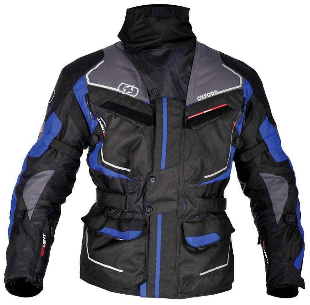 Oxford Oslo Long Giacca tessile motociclistica Grigio Blu S