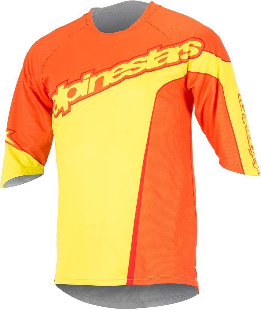 Alpinestars Crest 3/4 Camicia di biciclette Giallo S