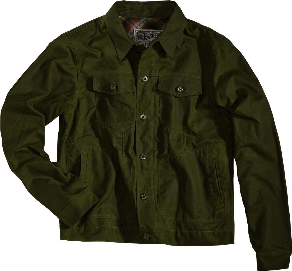 Rokker Wax Cotton Giacca Verde 2XL