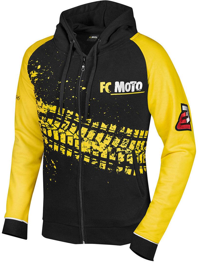 FC-Moto Corp Felpa con zip Nero Giallo S