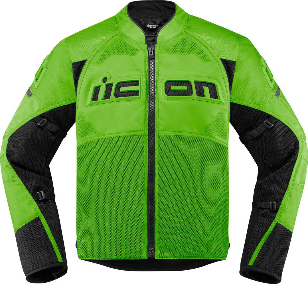 Icon Contra2 Giacca moto in tessuto Verde 3XL