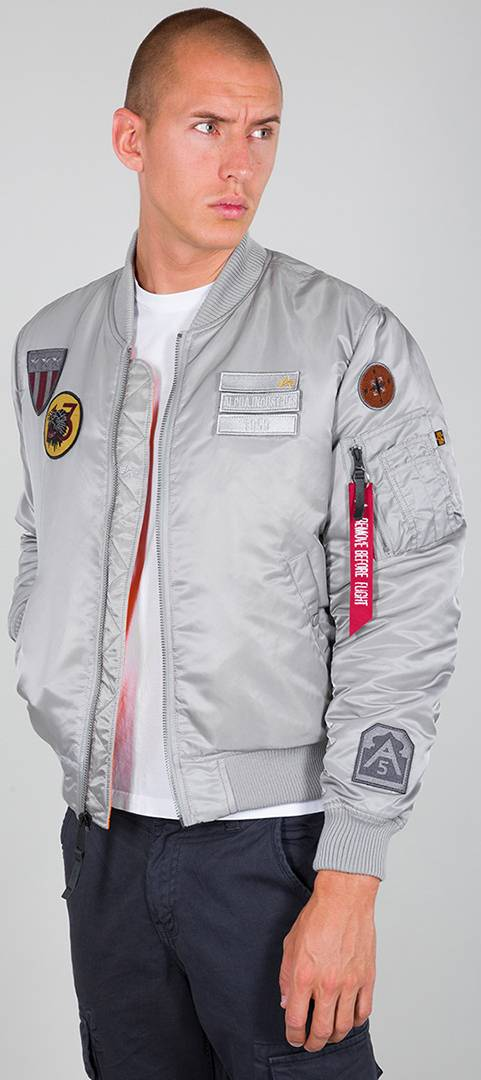 Alpha MA-1 Air Force Giacca Argento 3XL