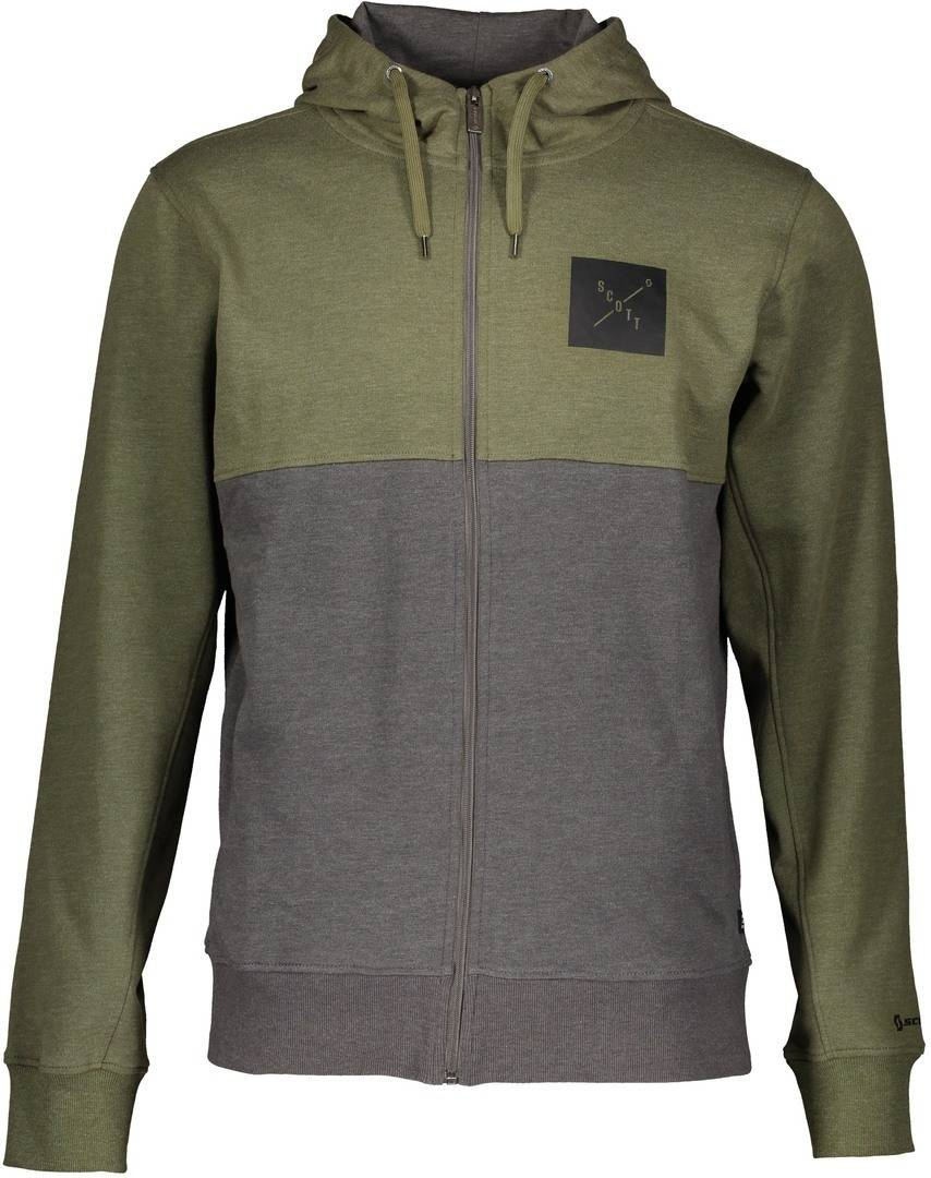 Scott 10 Casual L/SL Zip Regular Felpa Grigio Verde L