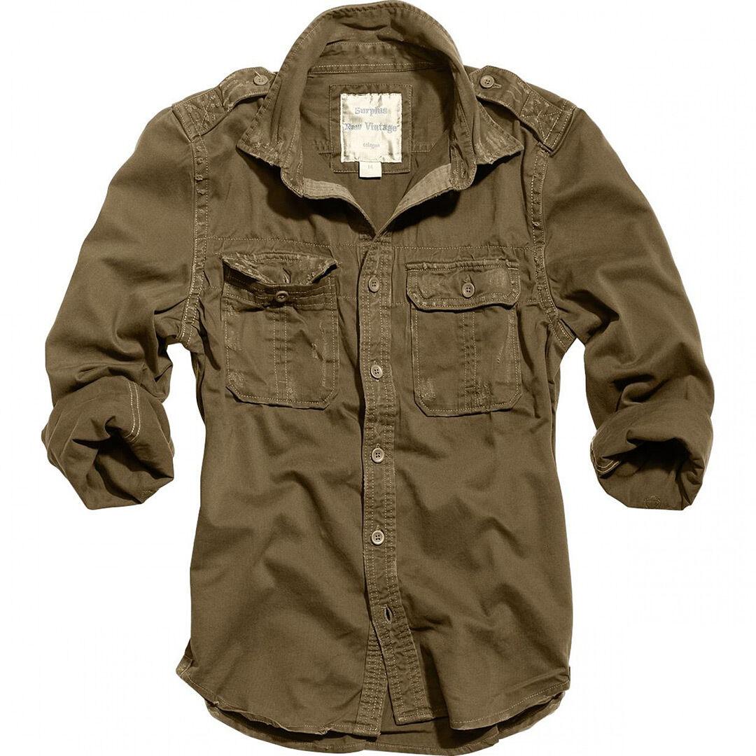 Surplus 1/1 Raw Vintage Camicia Marrone L