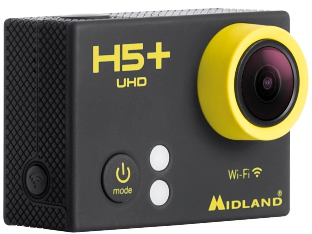 Midland H5 Plus 4k Ultra HD Action Camera Nero unica taglia