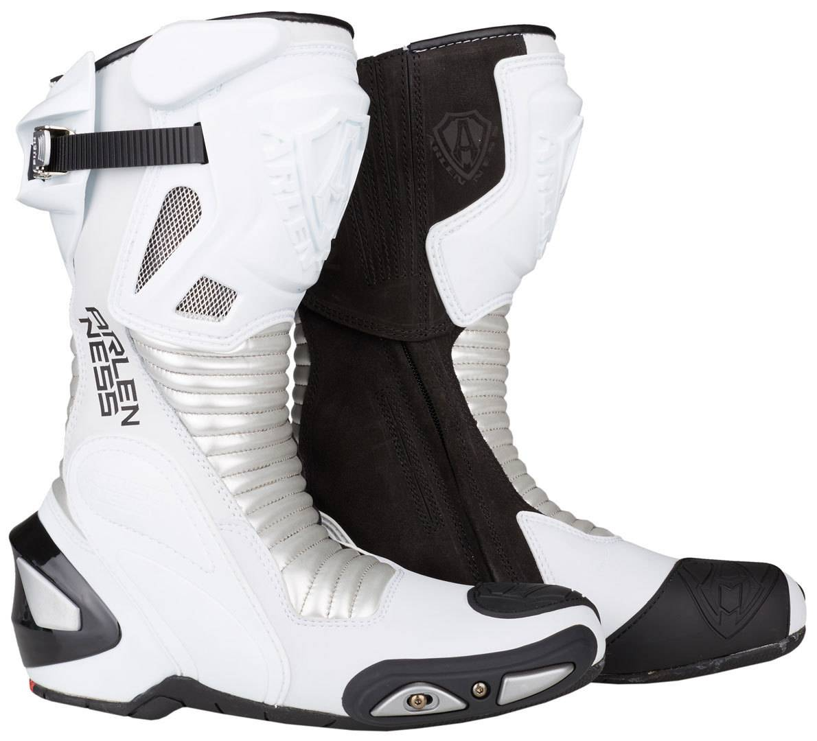Arlen Ness Pro Shift Stivali da moto Nero Bianco 42