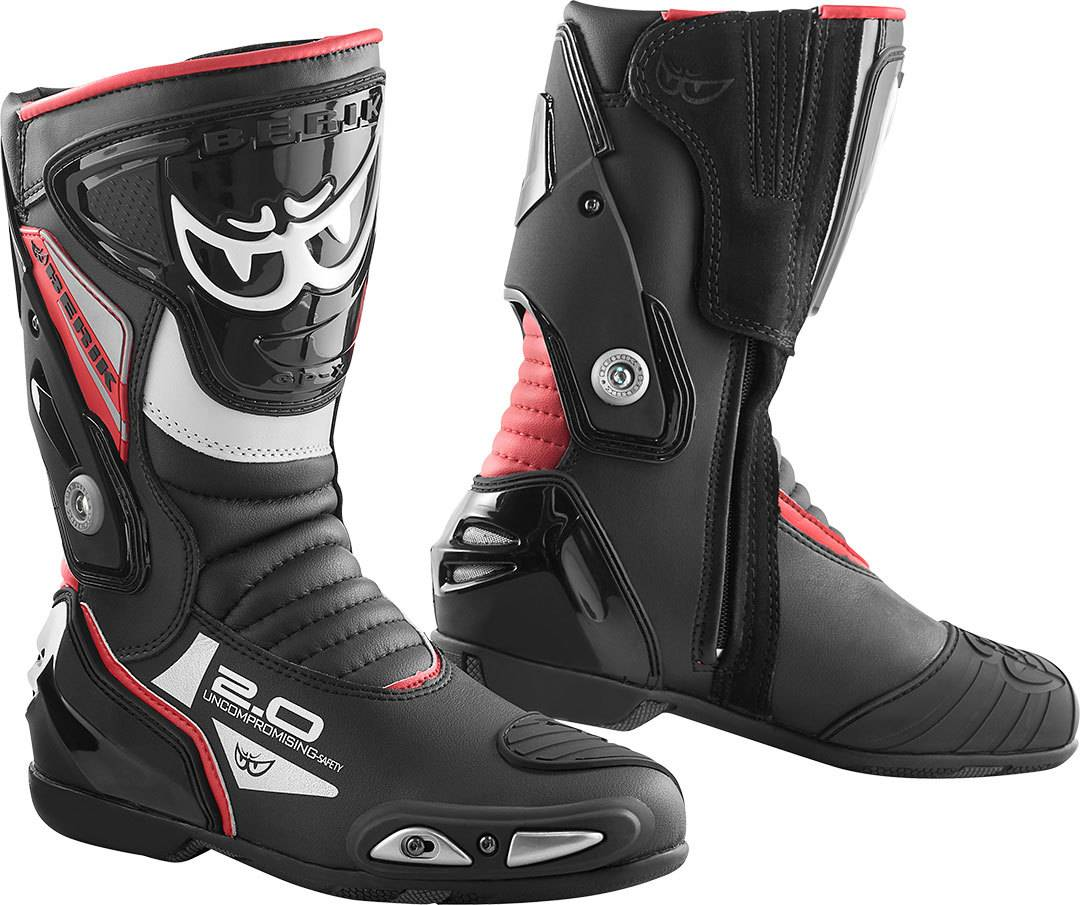 Berik Shaft 2.0 Stivali da moto Nero Rosso 45