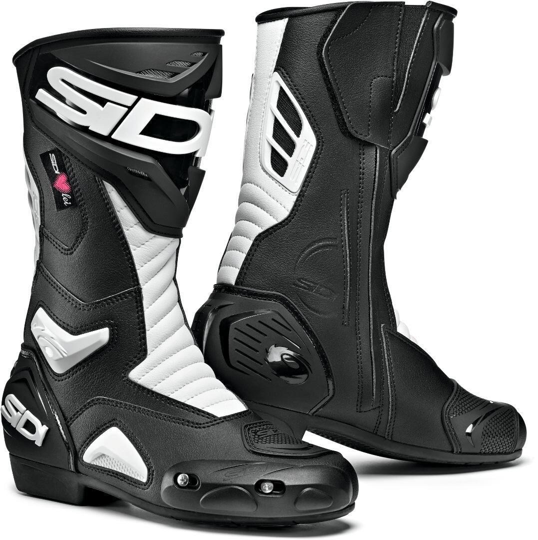Sidi Performer Ladies Motorcycle Boots Scarpe da donna per motocicl... Nero Bianco 39