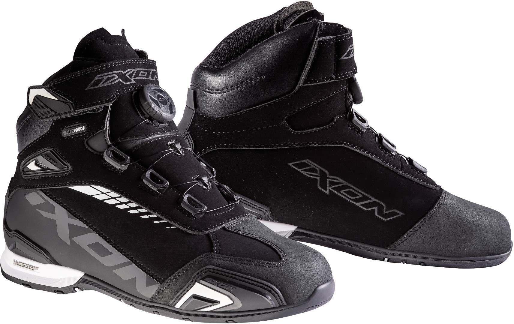 Ixon Bull WP L Ladies scarpe del motociclo Nero Bianco 40