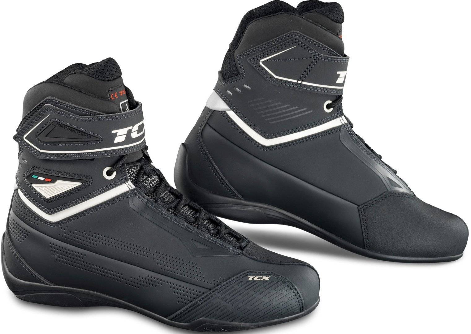 TCX Rush 2 Air Limited Edition Scarpe da moto perforate Ladies Nero Bianco 39