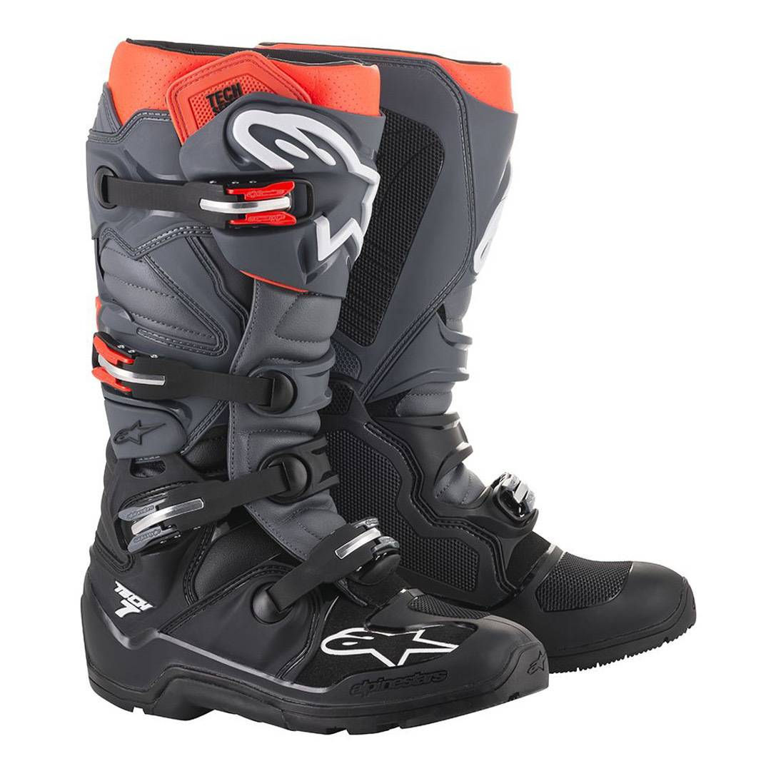 Alpinestars Tech 7 Enduro Stivali Nero Rosso 44 45