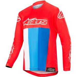 Alpinestars Racer Venom Motocross Gioventù Jersey Bianco Rosso Blu L