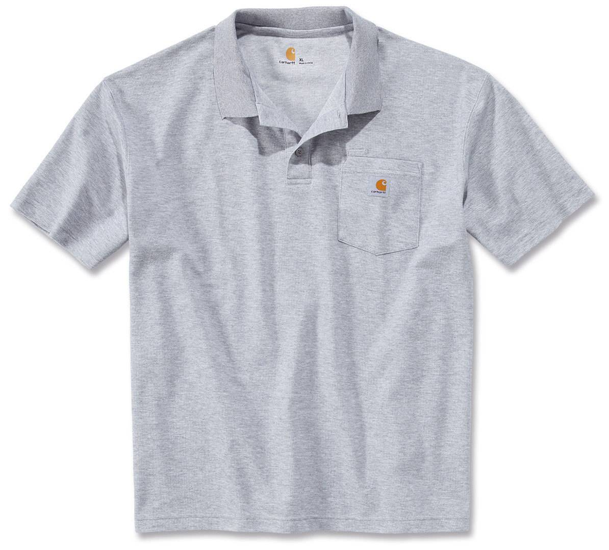 Carhartt Contractors Work Pocket Camicia di Polo Grigio XL