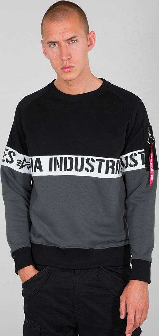 Alpha AI Stripe maglione Nero 2XL