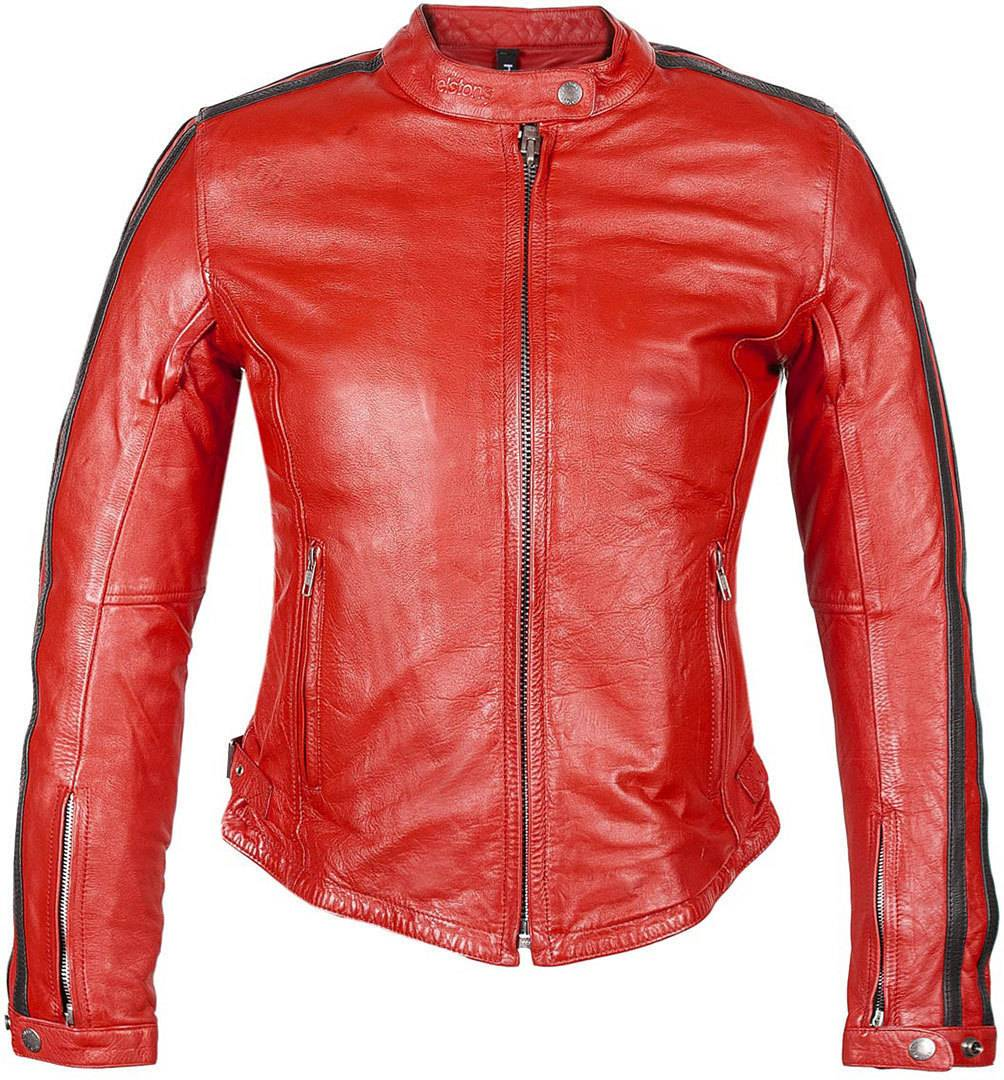 Helstons Angel Rag Giacca in pelle da donna Rosso M