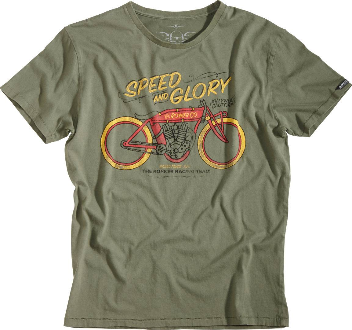 Rokker Speed and Glory T-shirt Verde 3XL