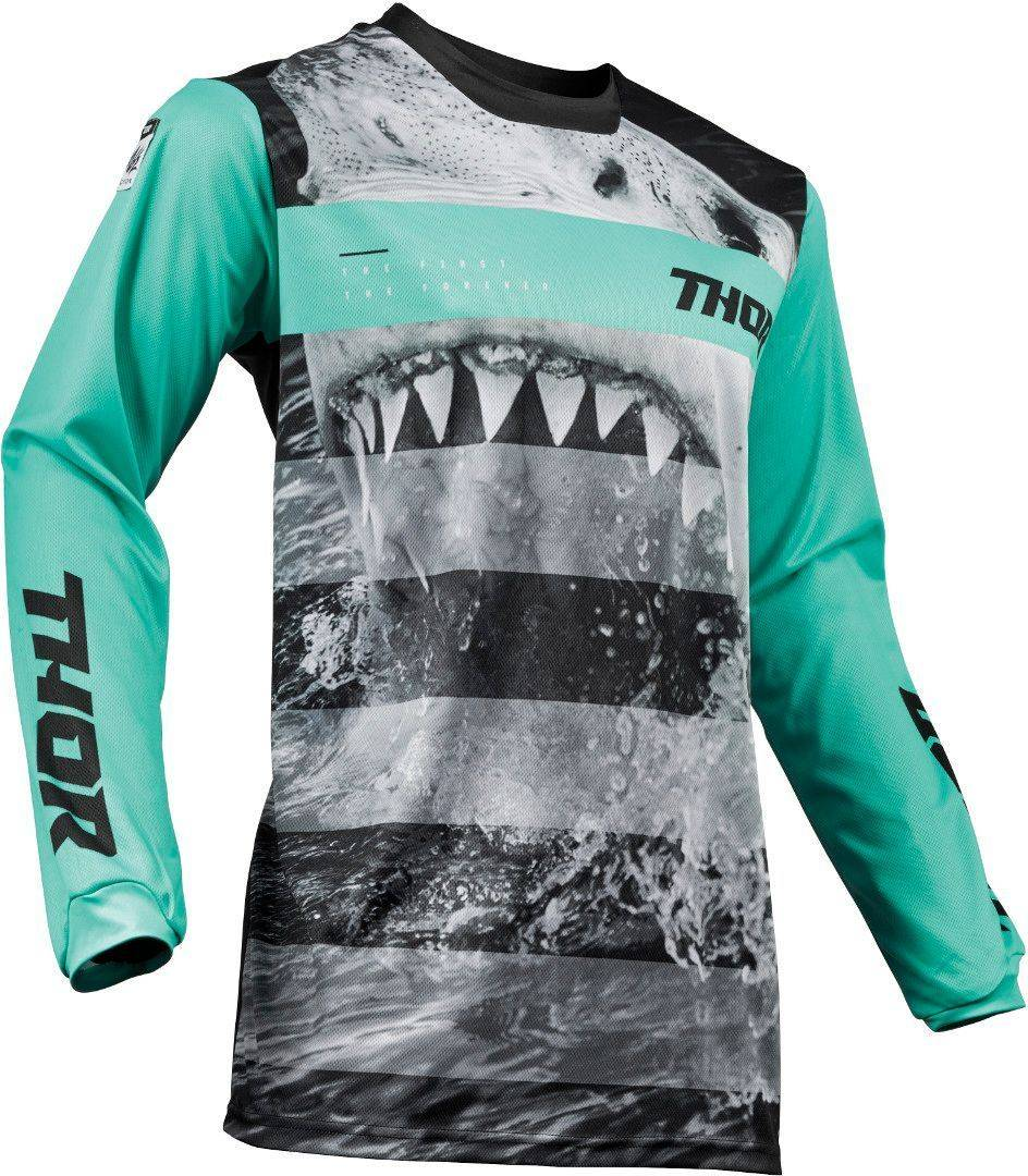 Thor Pulse Savage Jaws S9Y Gioventù Jersey Nero Verde M