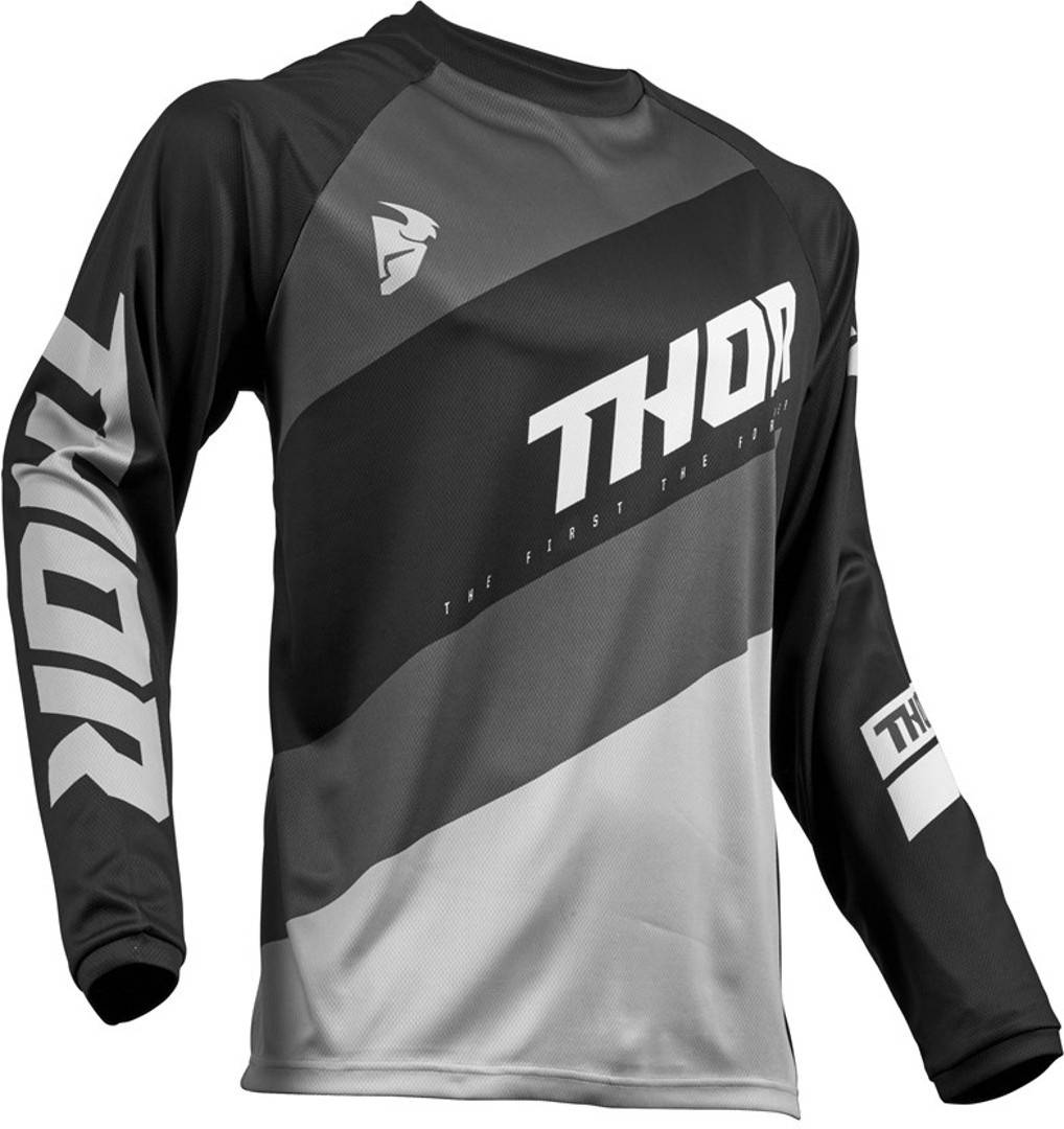 Thor Pulse Stunner S9Y Black Gioventù Jersey Nero Bianco 2XS