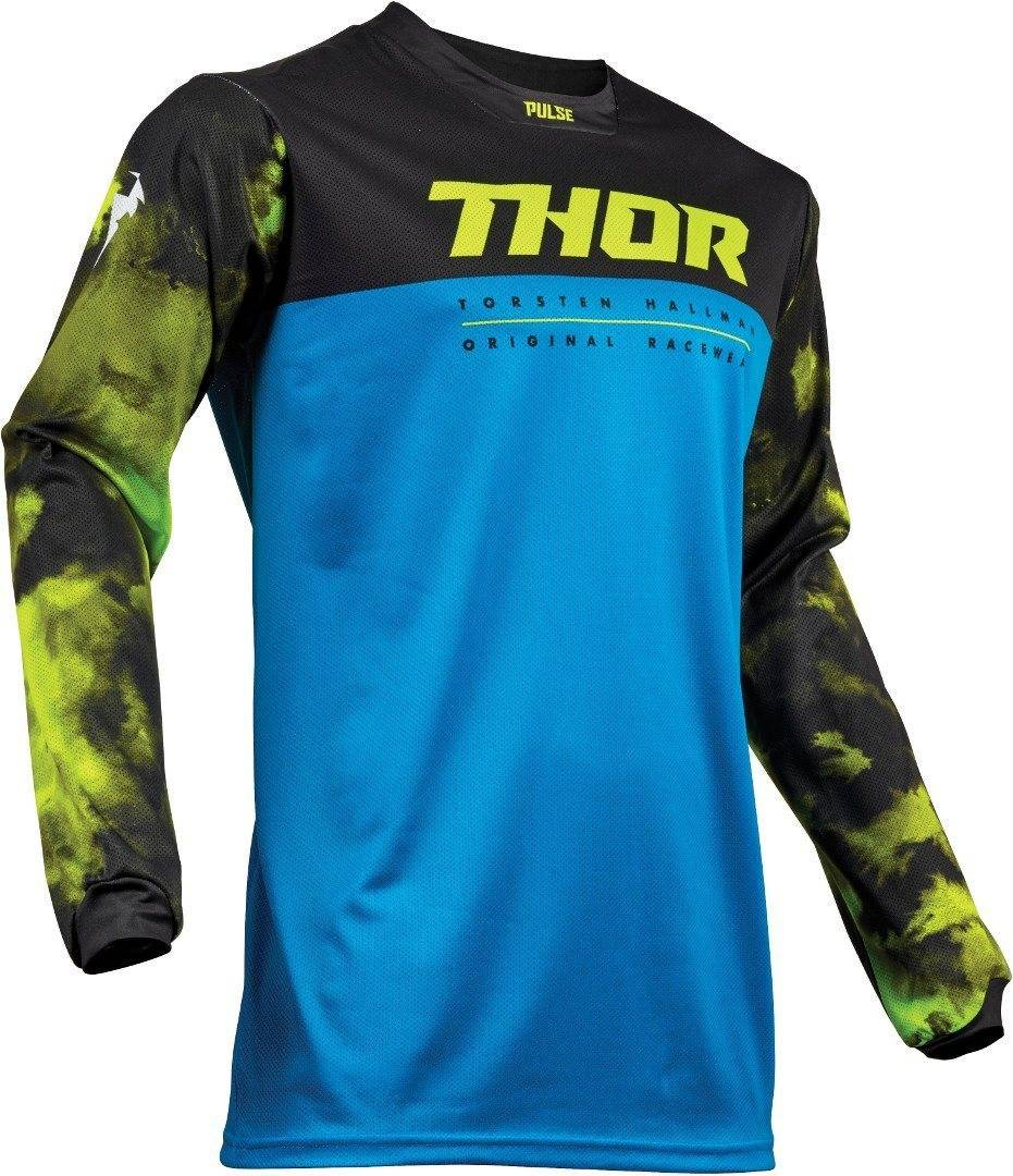 Thor Pulse Air Acid S9Y Electric Gioventù Jersey Nero Blu Giallo S