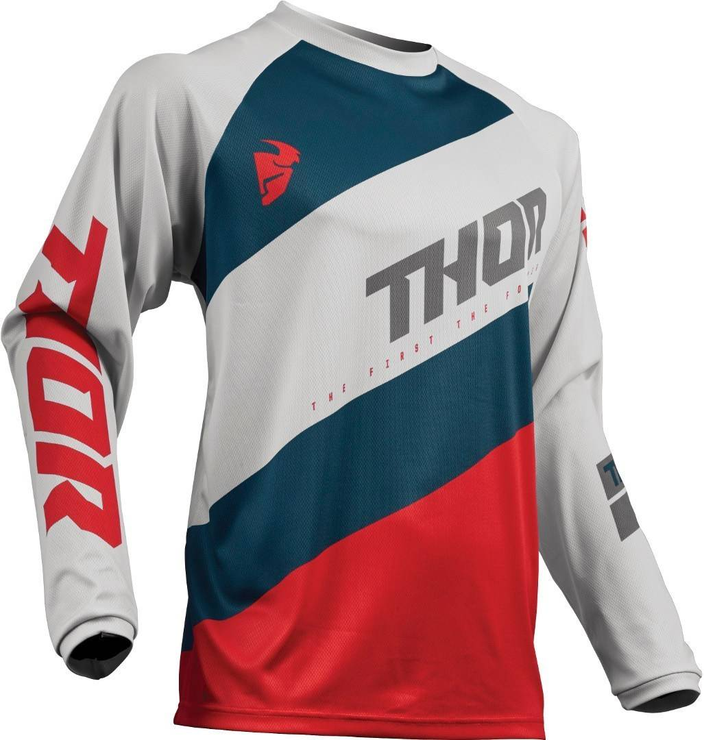 Thor Sector Shear S9Y Light Gray Gioventù Jersey Grigio Rosso XL